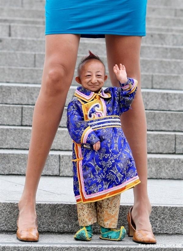 У кого самый большой размер ноги