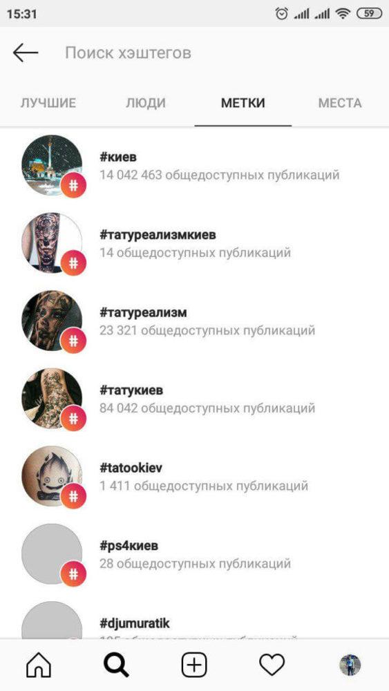 Самые популярные хеш-теги в instagram